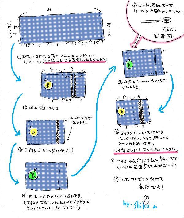 簡単 蓋付きのポケットティッシュケースの作り方 その他 その他 アトリエ ポケットティッシュケース 作り方 ティッシュケース ソーイング