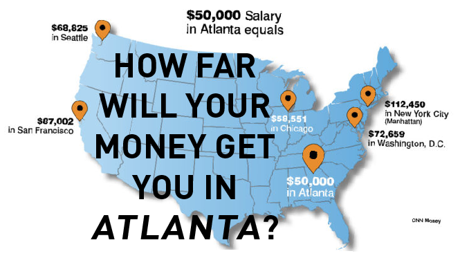 Compare Living In Atlanta To Living In Other Big U S Cities And You Ve Got More For Your Money Atlanta City Atlanta Moving To Georgia