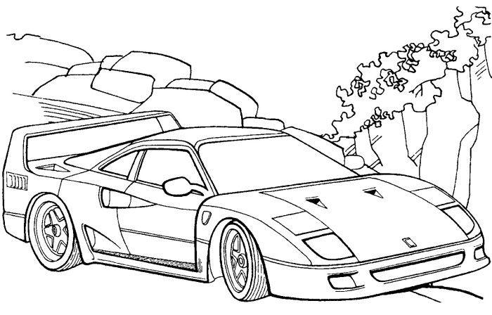 ferrari f40 coloring page