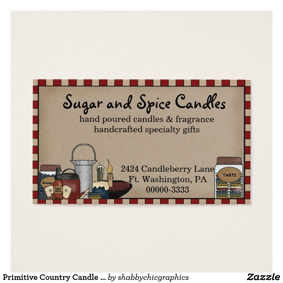 Primitive country candle scents business card prim country and primitive country candle scents business card colourmoves