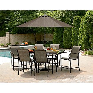 Garden Oasis East Point 7 Pc High Dining Set 499 At Kmart Com Outdoor Patio Bar Outdoor Patio Bar Sets Clearance Patio Furniture