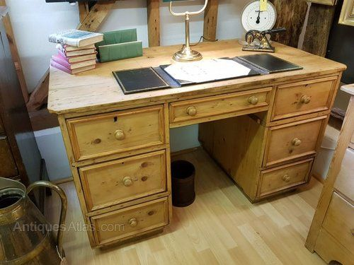 Antique Pine Desk/Work Table - Antiques Atlas - Antique Pine Desk/Work Table Pine Desk, Pine And Desks