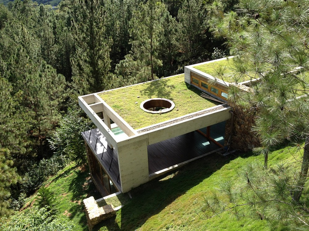 Toit Vert Toiture Verte Plan Maison Moderne Toit Vert