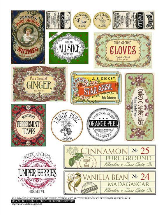 Il 570xn 455463676 6oao Jpg 570 738 Vintage Labels Vintage Food Labels Spice Labels