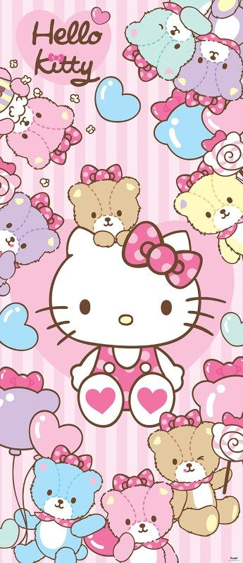 Fototapet hello kitty si ursuleti 460 pret hello kitty pinterest - Hello kitty schlafzimmer ...