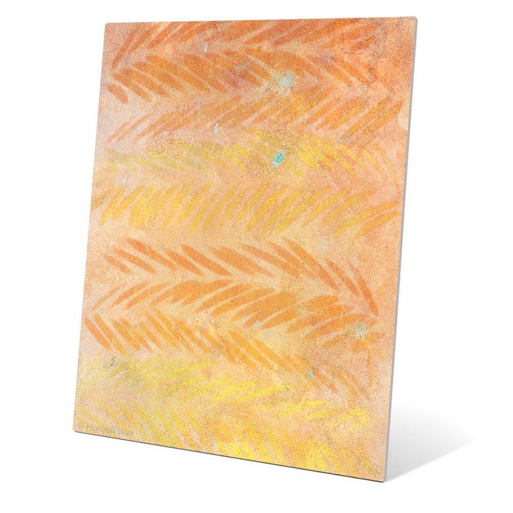 Horizon 'Amber Leaves' Wall Graphic on Metal