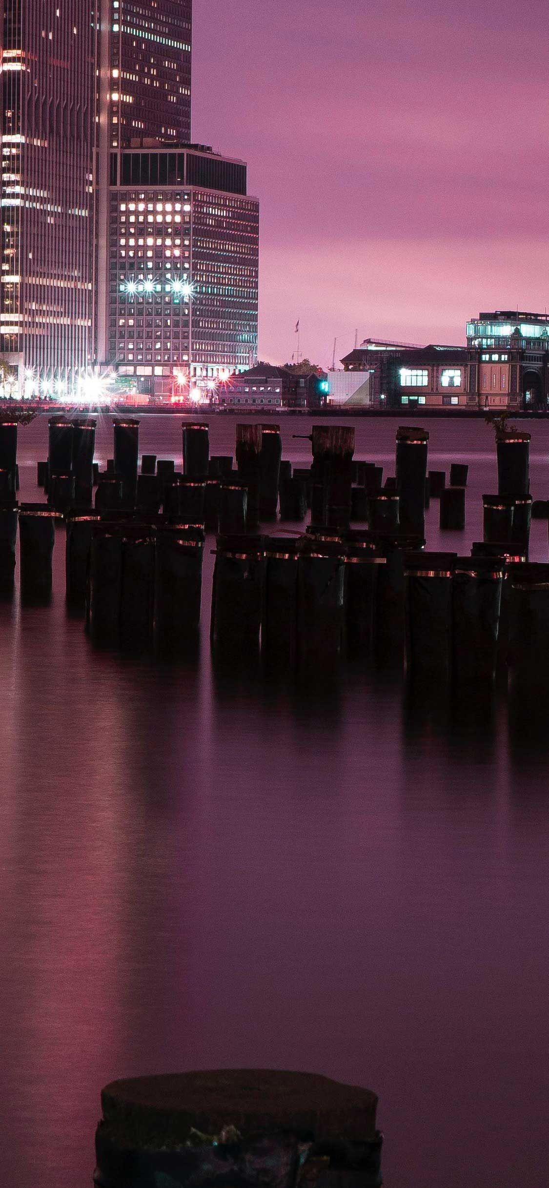Обои brooklyn bridge park, Nyc, ночь. Города foto 14
