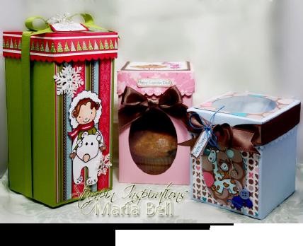 Tall Box, Cupcake Box, and Keepsake Box tutorial