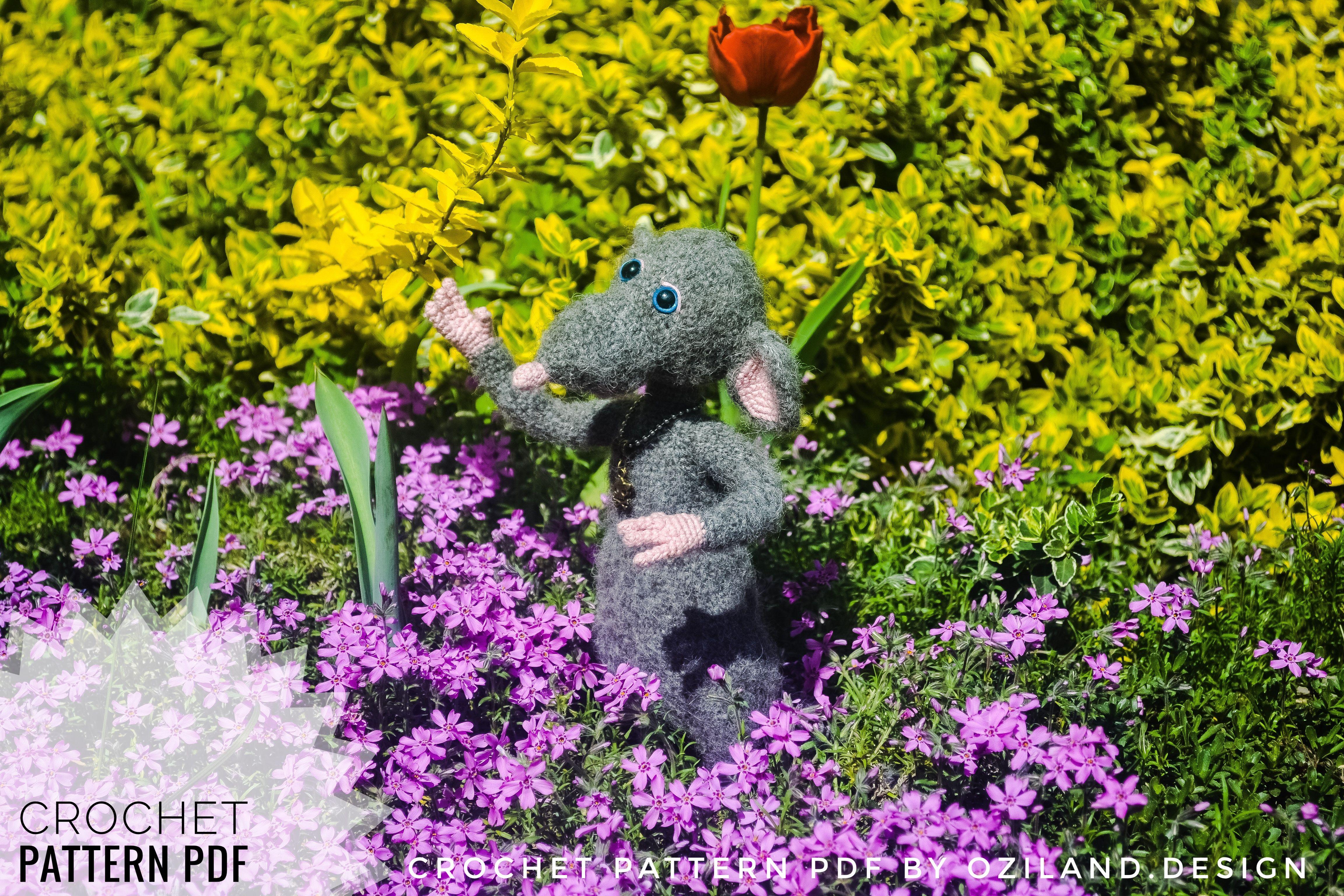 PDF Pattern - Amigurumi Ratatouille (crochet mouse ... | 3072x4608