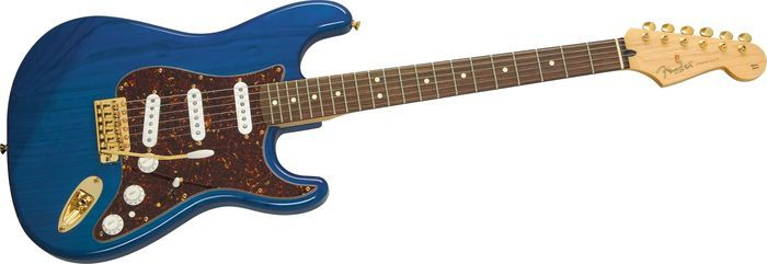 Fender Deluxe Player's Stratocaster Electric Guitar Sapphire Blue Transparent Rosewood Fretboard - Mickey's Music Store