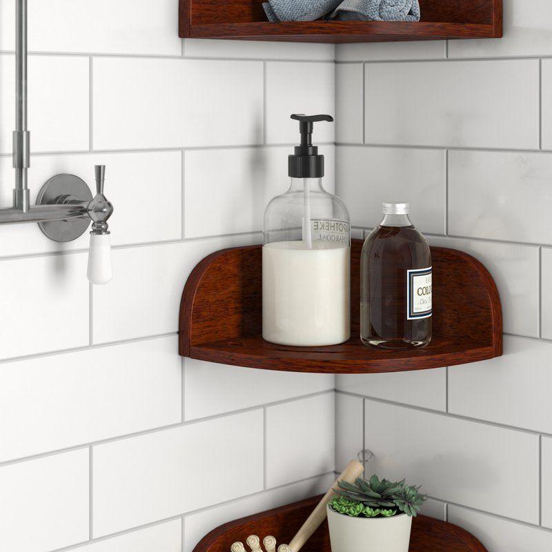 Teak Shower Shelf With Images Shower Shelves