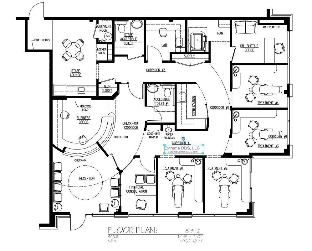 Dental office floor plan samples for Floor plan examples