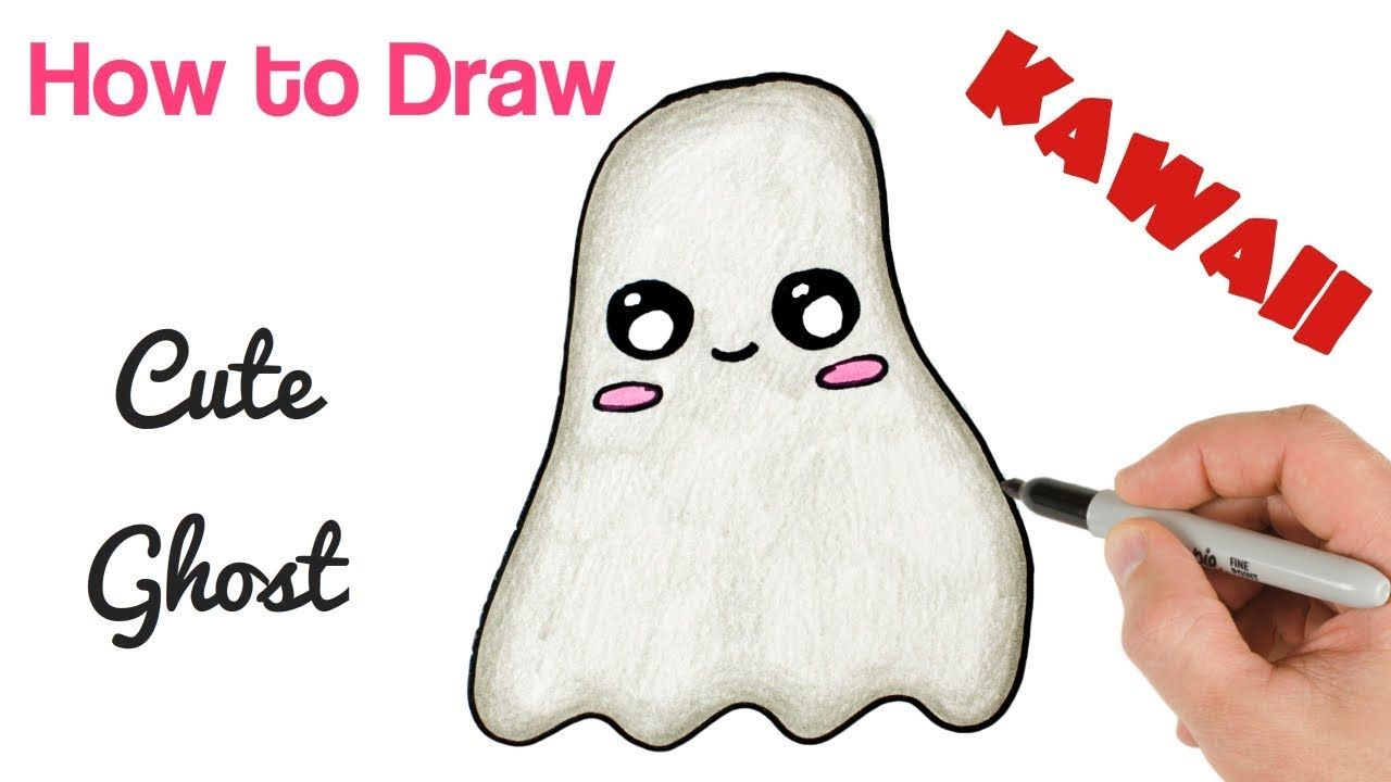 How To Draw Cute Ghost Halloween Drawings For Kids Cute Drawings