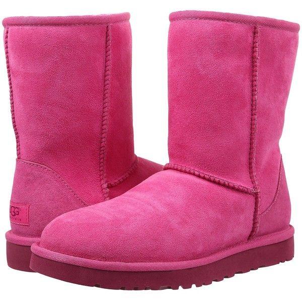Womens Boots UGG Classic Short Furious Fuchsia