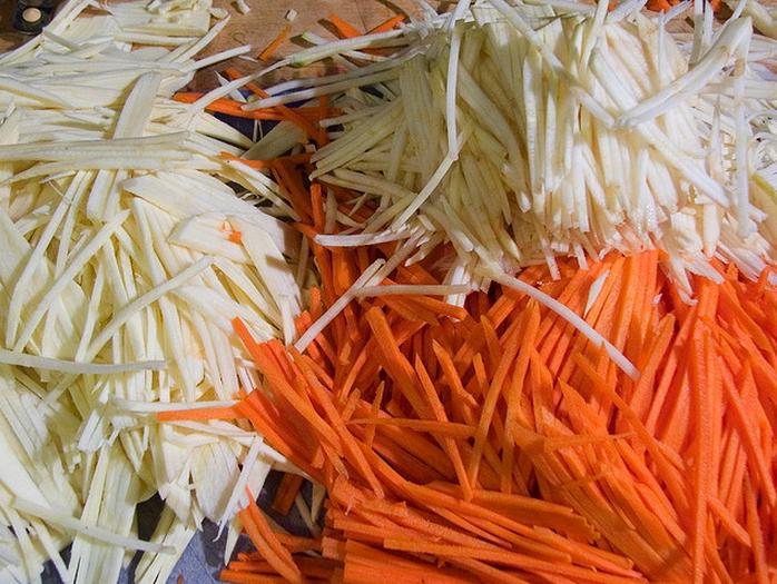 how to make julienne vegetables