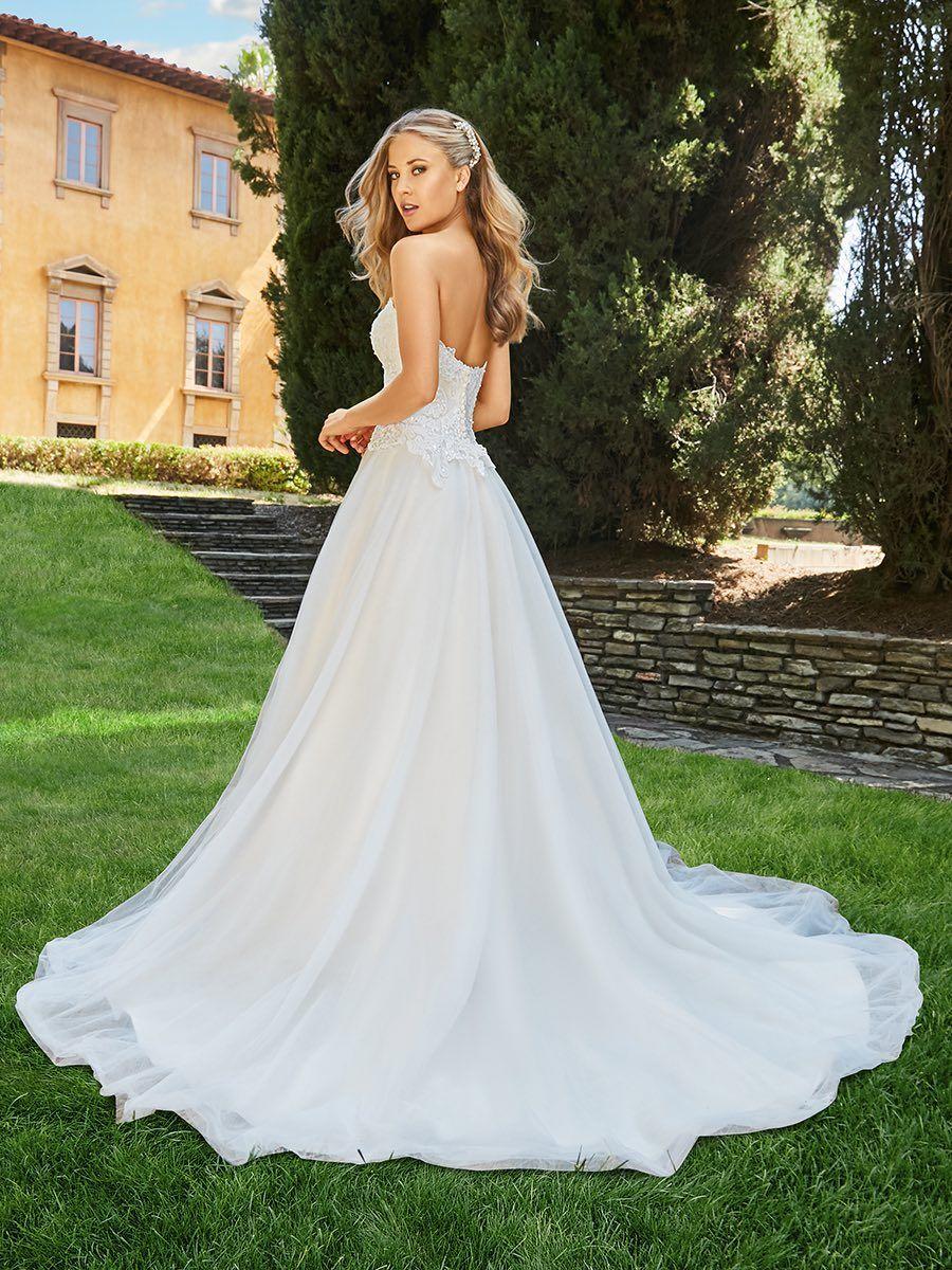 Classically elegant moonlight couture wedding dresses