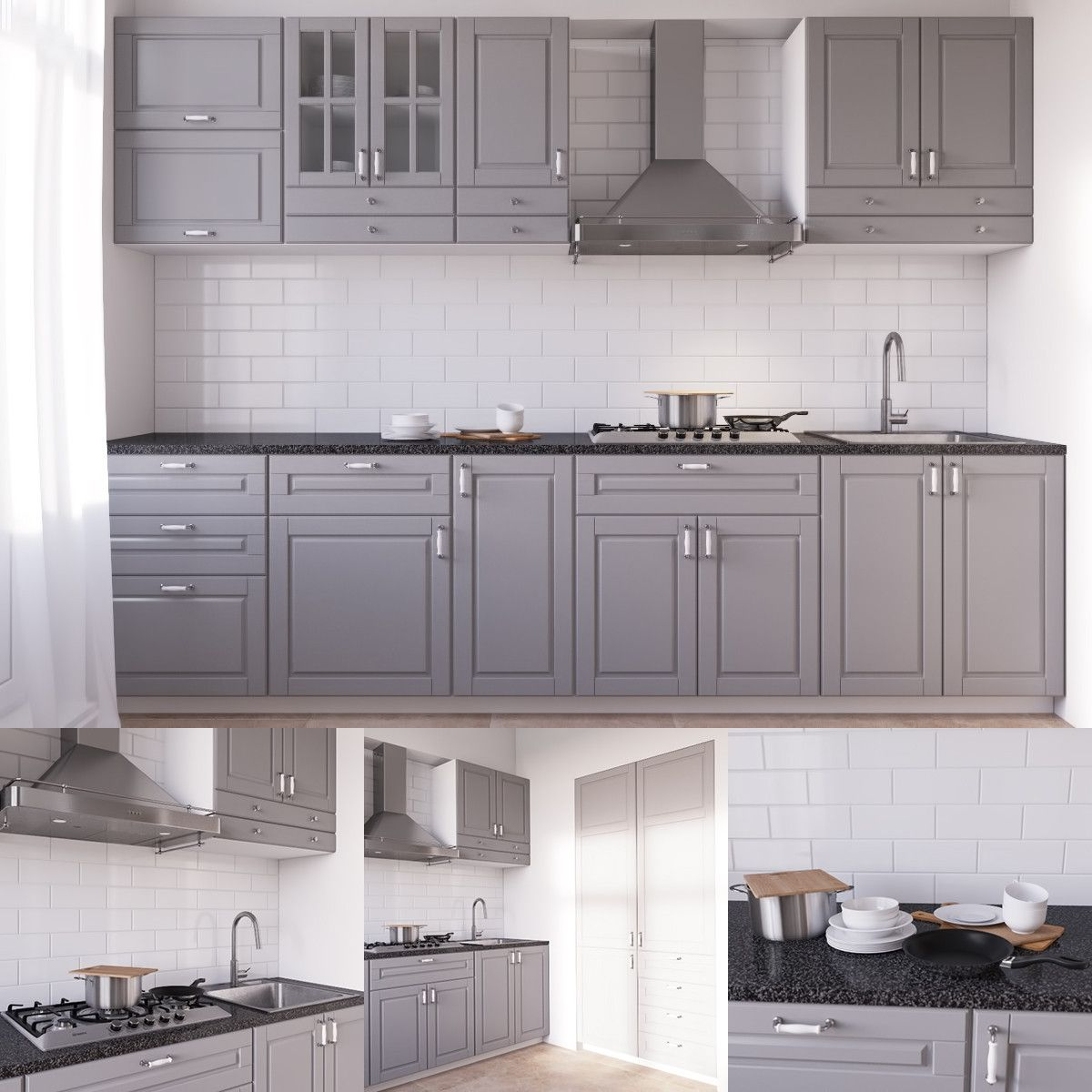 Ikea Kitchen Bodbyn Grey: Ikea Bodbyn 3D Model - 3D Model