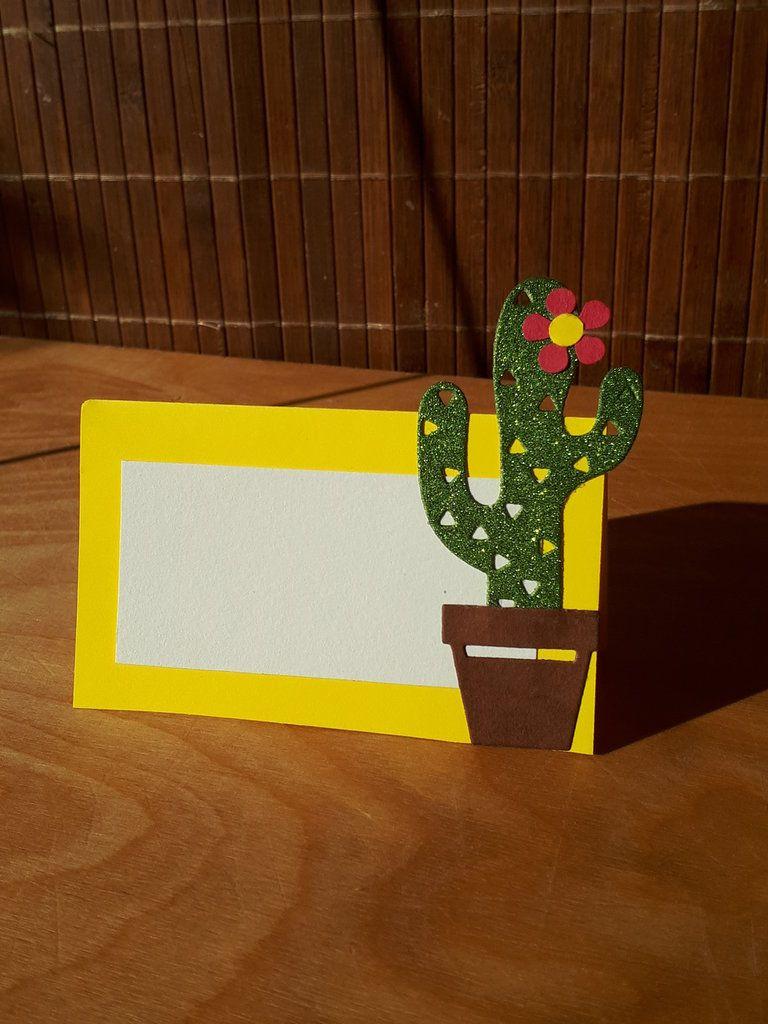 Segnaposto Matrimonio Giallo.Segnaposto Compleanno Cactus Decorazioni Matrimonio Festa A Tema