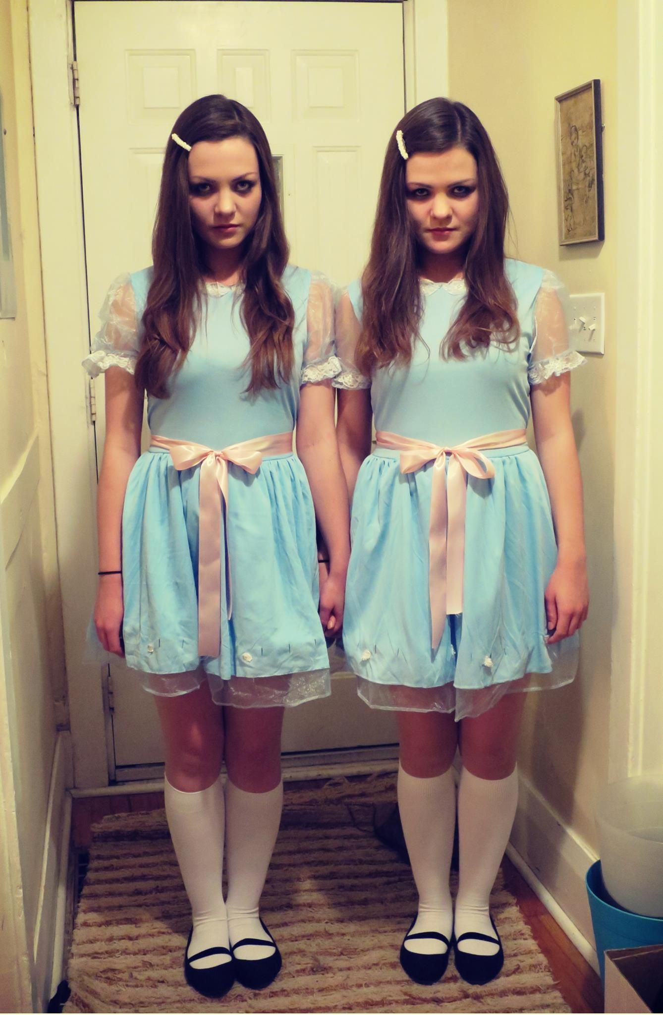 As brunette twins I think we pulled off our Halloween costumes this