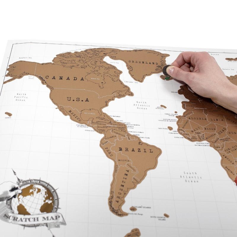 Epingle Sur Carte Monde A Gratter