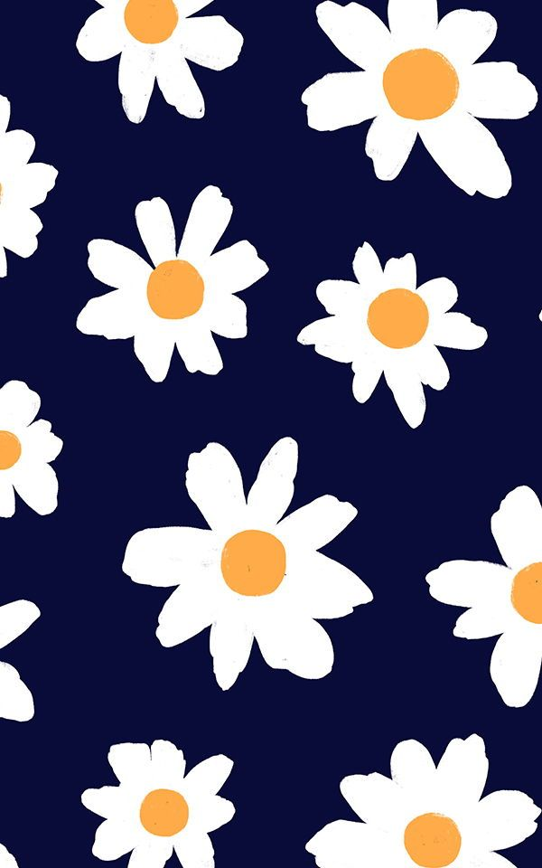 Pink White Retro Daisy Wallpaper Mural Hovia Uk Daisy Wallpaper Cute Wallpapers Floral Wallpaper Blue flower wallpaper cartoon