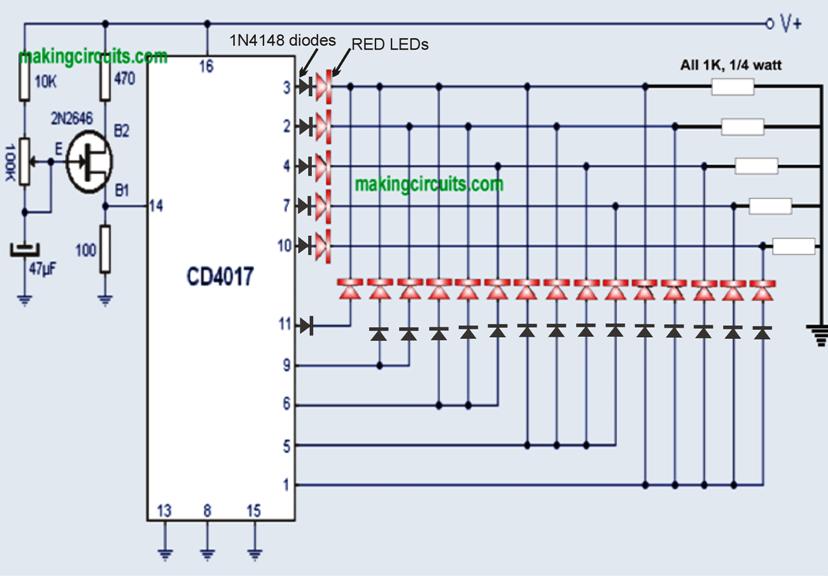 Car Chasing Led Arrow Turn Signal Indicator Circuit