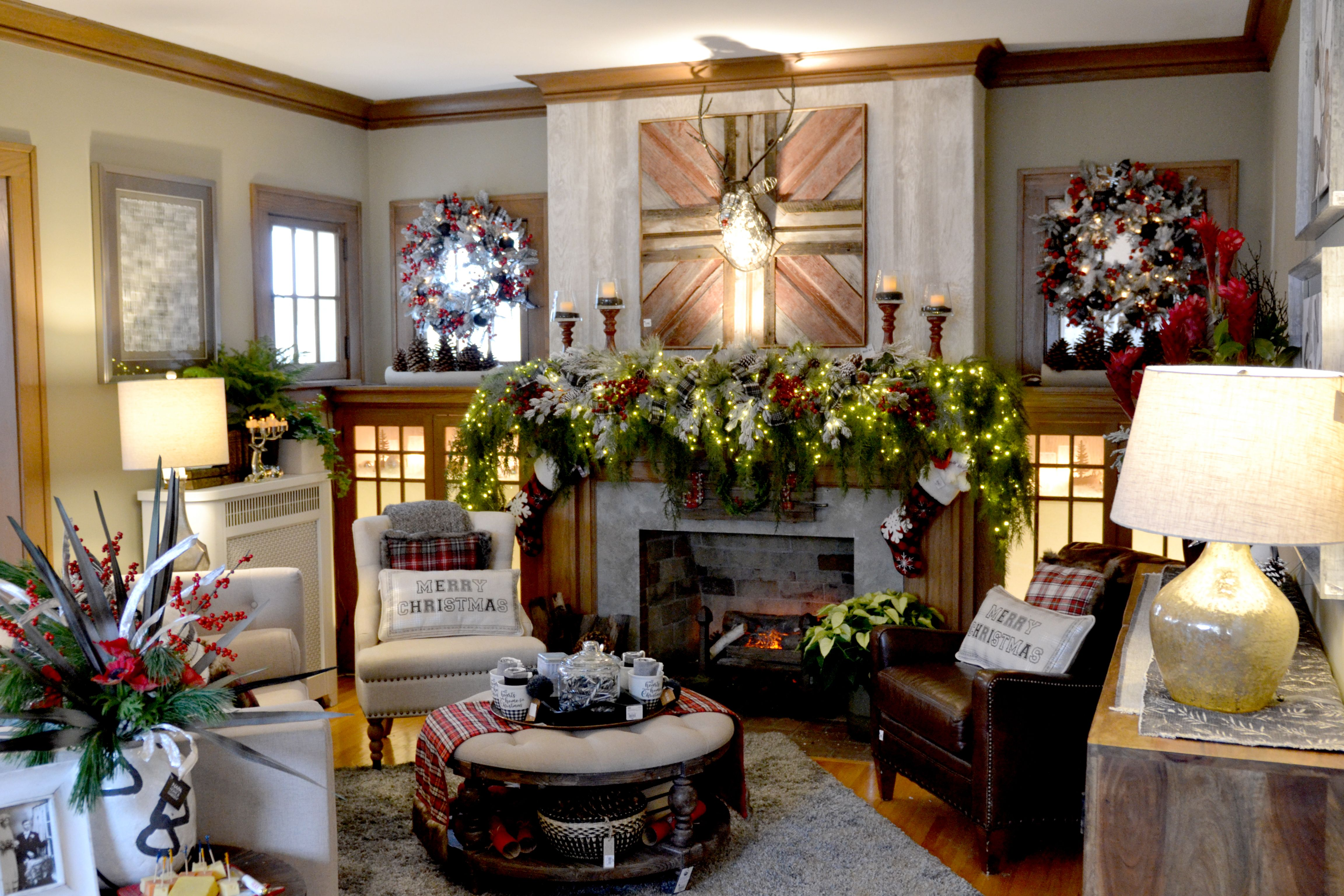 Living Room Filled With Holiday Decor As Seen In 2018 Bachman S Ideas House Planting Flowers Decor Minneapolis Florists