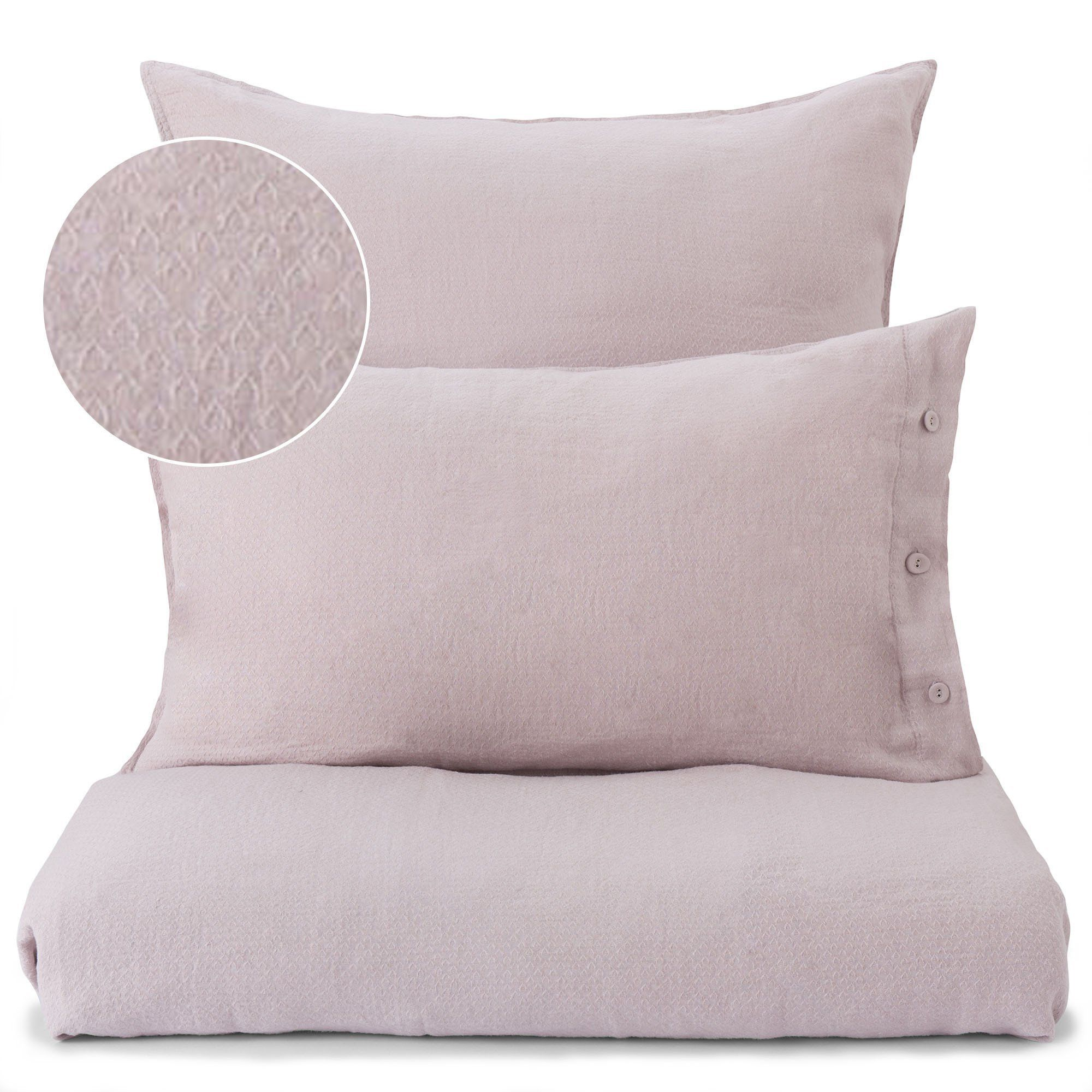 Leinen Bettwasche Lousa Zartrosa 200x200 Cm Leinenbettwasche Bettwasche Und Designer Bettwasche