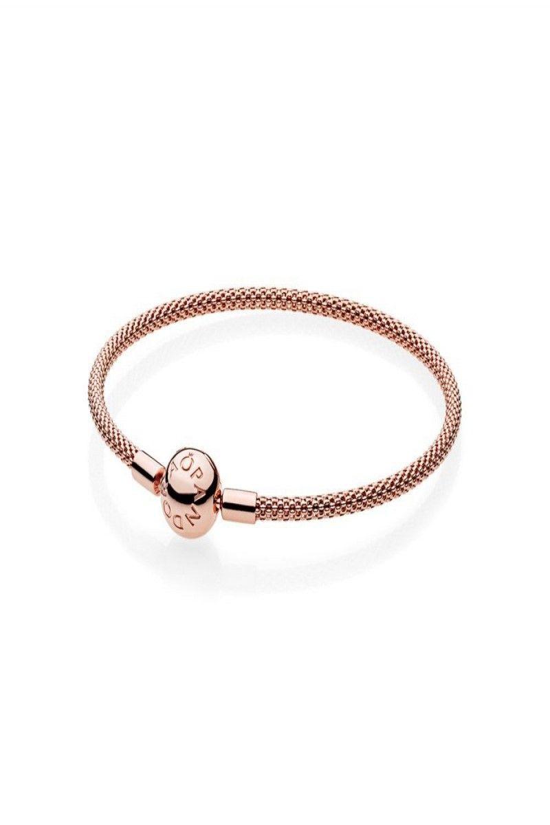 a03bacf93 59.99 | Authentic Pandora Rose Gold Mesh Bracelet Size 7.5