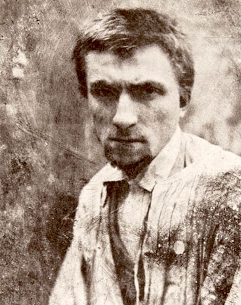 The sculptor Auguste Rodin in 1862, age 22. Photograph by Charles ...