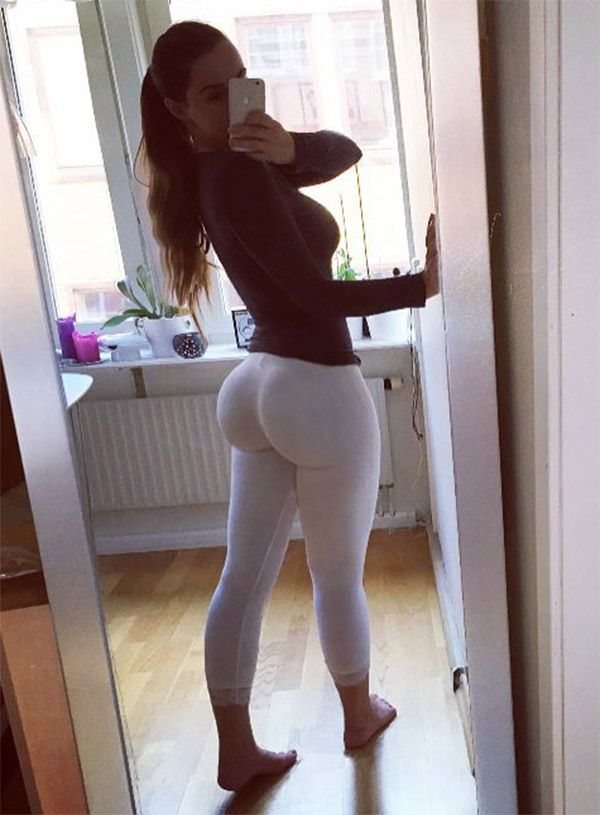 Ines Helen's ridonkulous booty in white yoga pants : Girls In Yoga ...
