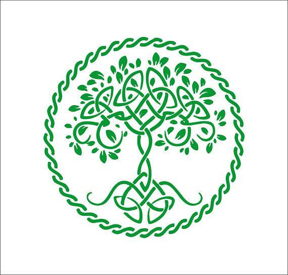 celtic tree of life vinyl decal yggdrasil decal window | vinyl
