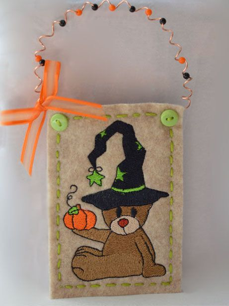 Add this adorable Halloween Bear Ornament to your Holiday Decor