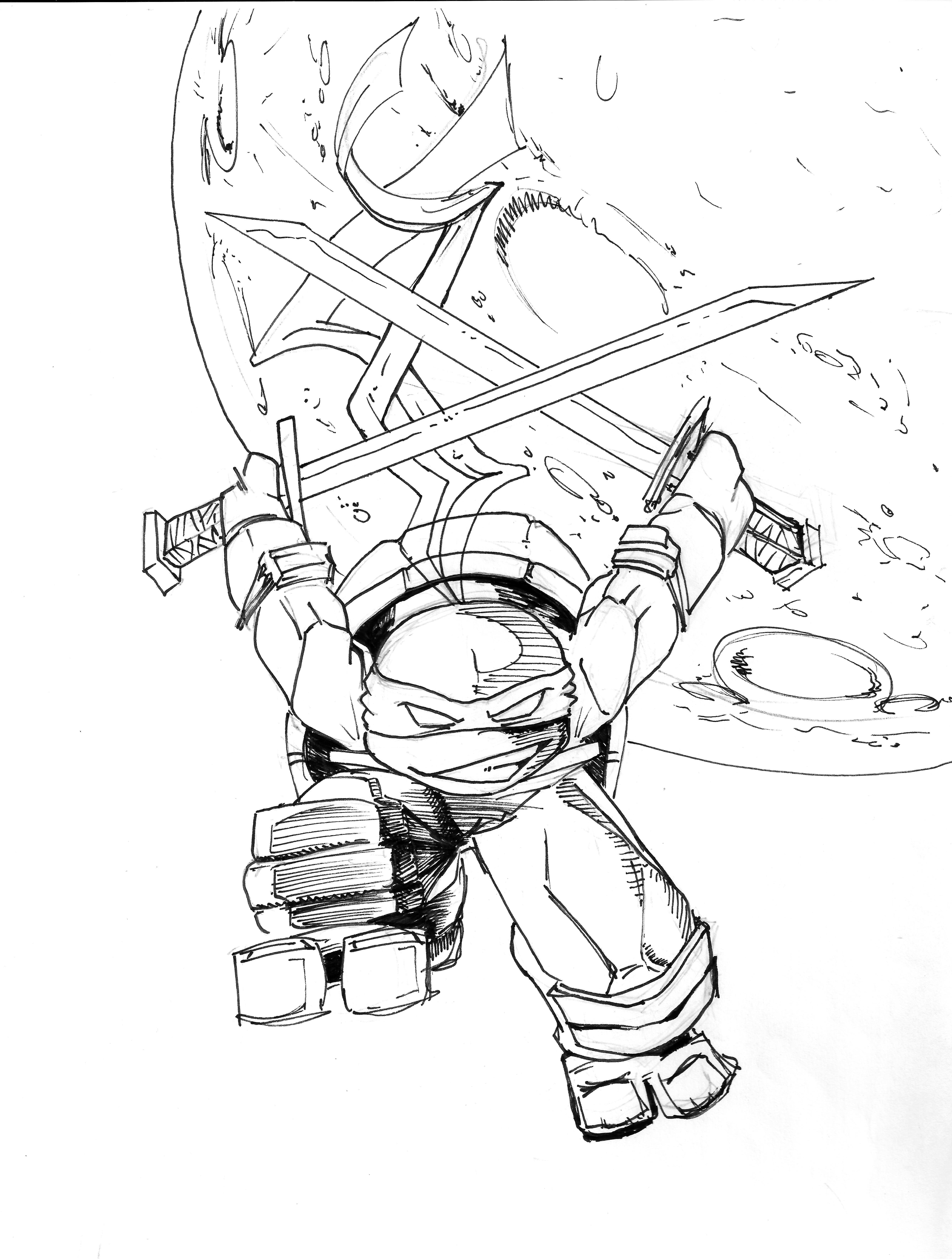 Teenage Mutant Ninja Turtle-Leonardo | Coloring Pages | Pinterest