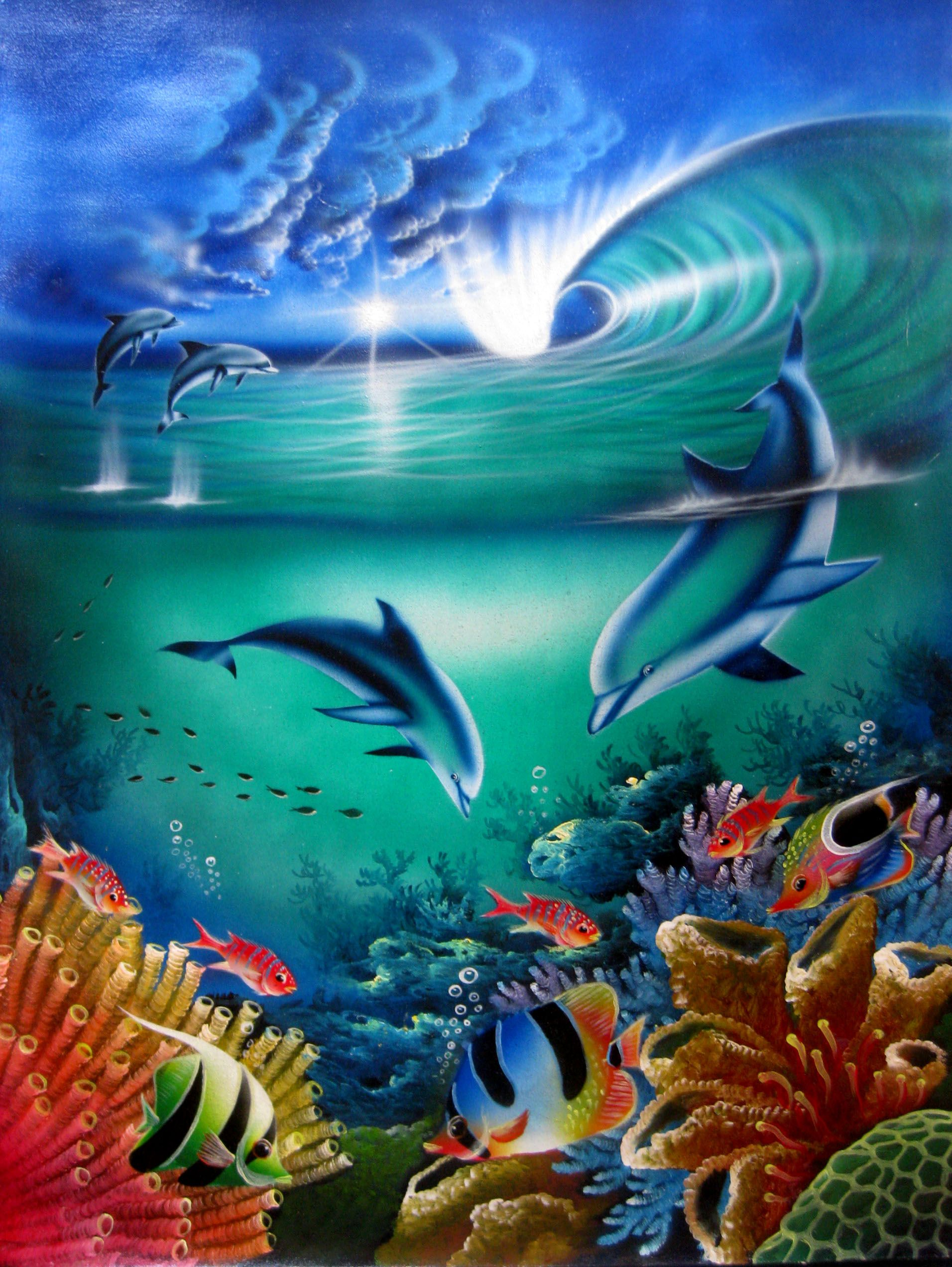 Ocean Art Seascapes Gallery Art For Sale Ocean Dolphins