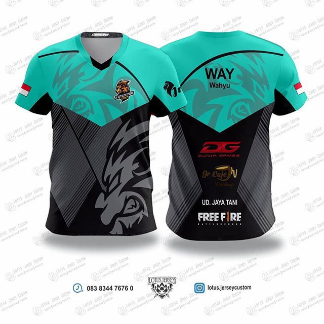 Download Pin Di Gaming Jersey Custom