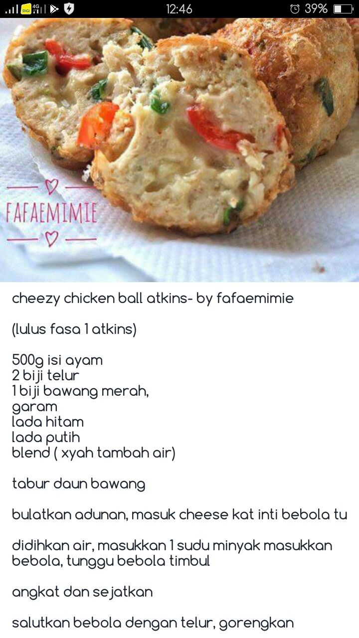 Ciken Ball Atkins Recipes Diet Recipes Food
