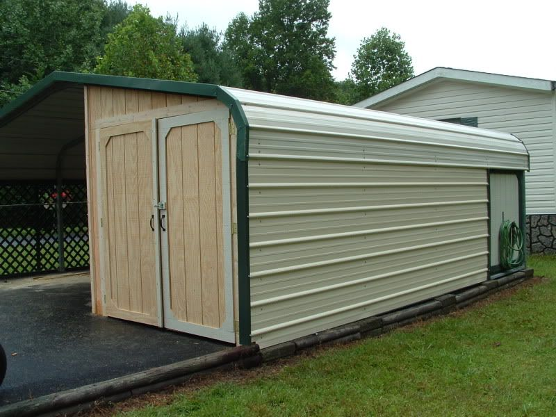 Metal Carport Doors : Enclosing a metal carport questions doityourself