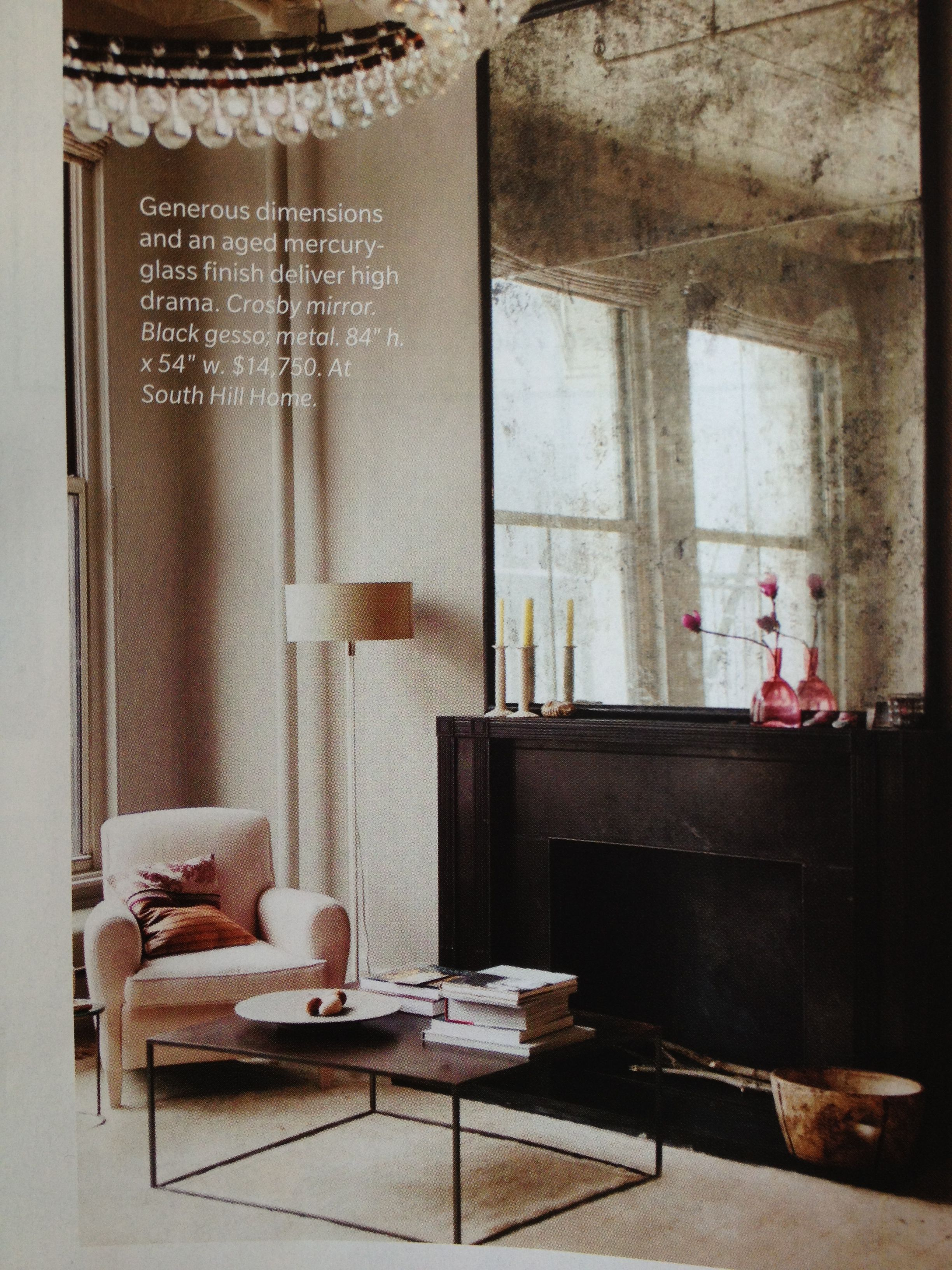 Antique mirror over fireplace mantle | Contemporary dining ...