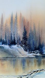 Watercolor Idea Arbres En Aquarelle Paysage De Mer Peinture