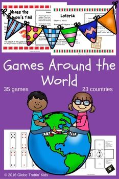 Games Around The World Game Cards Hopscotch And Tic Tac Toe - Countries of the world game