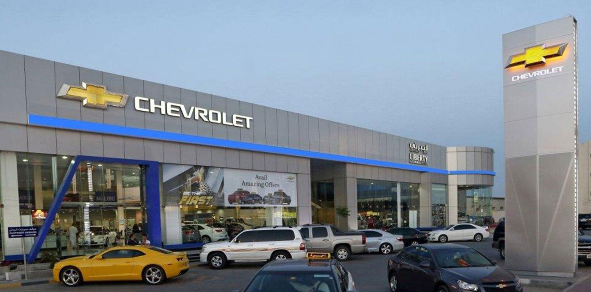 Signage Chevrolet Showroom Dubai Pylon Uae Signage Glass