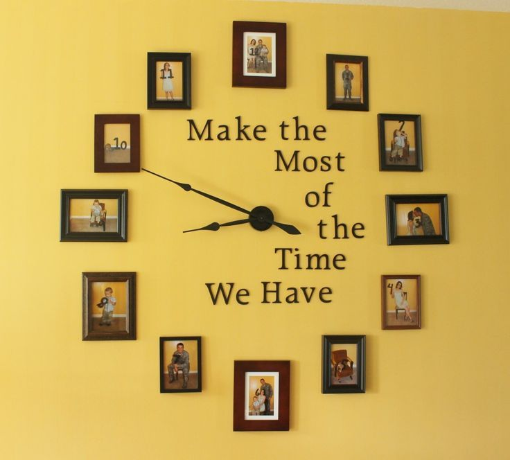 Easy DIY Large Photo Wall Clock Home Decor Project | Diy wall clocks ...