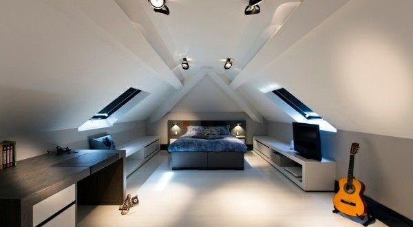 schlafzimmer im dachgeschoss ? 25 coole designs! | live modern ... - Dachgeschoss Schlafzimmer Einrichten