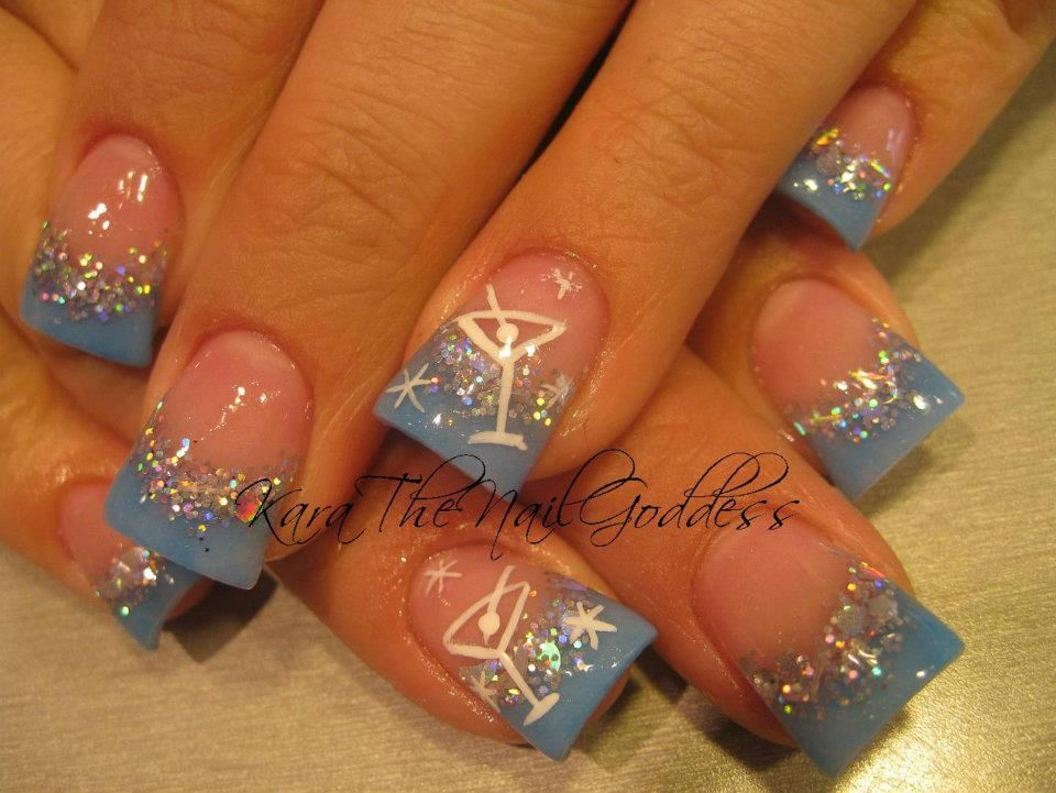 For Prom?? without the martini glasses:) | Unhas | Pinterest ...