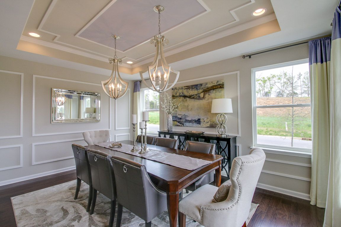 dashing dining rooms  eastwood homes  open concept