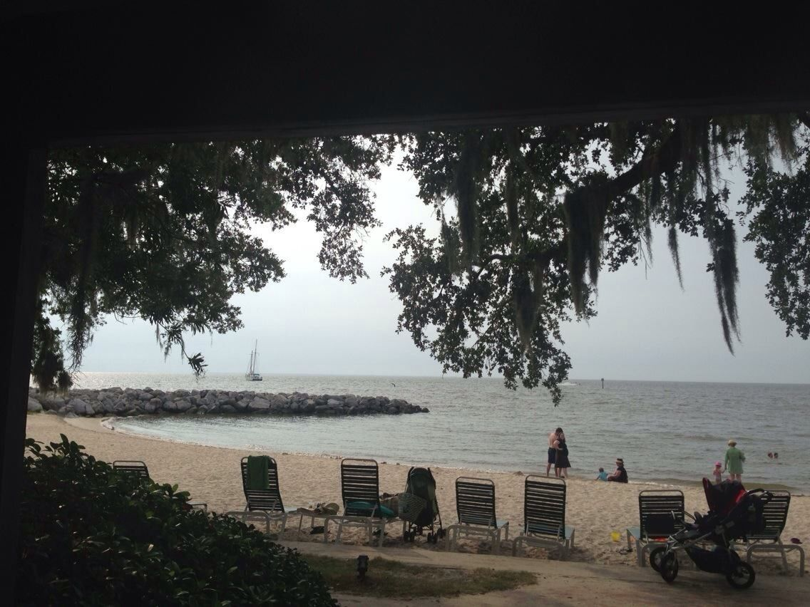 The Beach Front Of Mobile Bay At Grand Hotel Point Clear