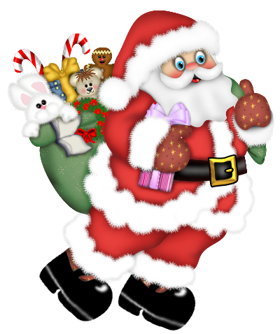 Walking Santa Claus PNG Clipart | INFANTILES | Pinterest | Walking