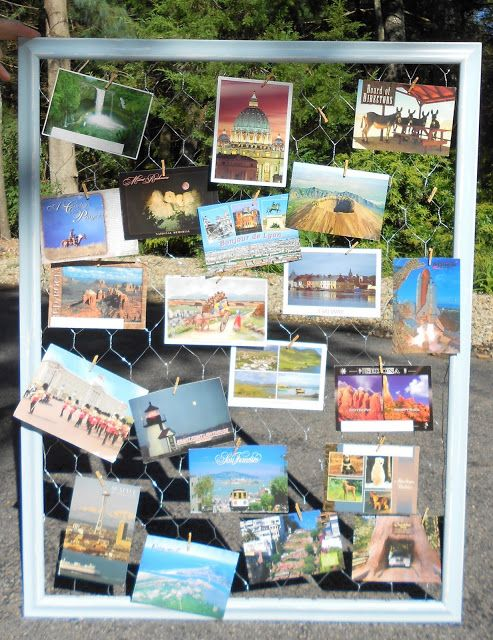 Upcycle An Old Frame Into A Postcard Display
