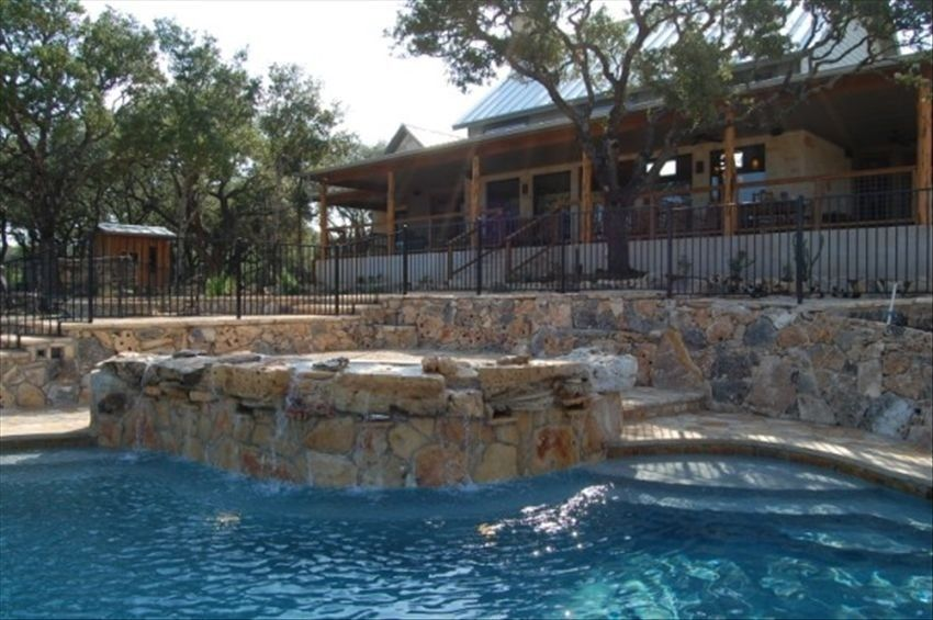 Wimberley House Can Sleep 14 Pool Hot Tub Sauna Probably Too Pricey Pool With Rock Waterfall Separate Lounge Pool 12 Hot Tub Wimberley Vacation Rental